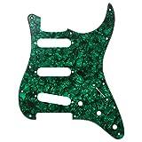 D'Andrea Strat Pickguards for Electric Guitar, Green Pearl