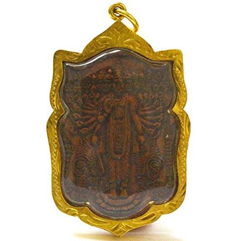 Lucky Jewelry Phra Vishvarupa Universal Omni Form of God Deity Vishnu Hindu Maracle Amulet Pendant