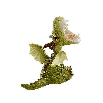top collection miniature fairy garden and terrarium statue mini dragon roaring