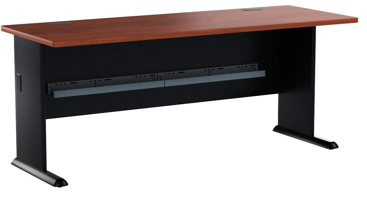 Bush Business Furniture Series A 72W Desk in Hansen Cherry and Galaxy by Bush Business Furniture