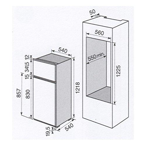 Electrolux Frigorifero da incasso FI 221//2T finitura bianco da 54cm