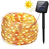 200 LEDs 72ft Solar Fair String Lights 8 Modes Copper Wire Lights Waterproof Outdoor Patio Lawn Garden Halloween Christmas Wedding Battle Photos Tree Party Decorative