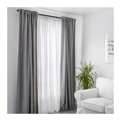 Amazon.com: ikea matilda sheer curtains 1 pair, white: home & kitchen