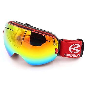 Masque De Ski Tech Lunette Masque Ski Snowboard Neige Miroir pour Homme  Femme Adulte Jeunesse Garçons 3a672897b34