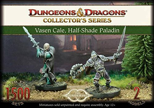 Gale Force 9 71019 Dungeons And Dragons Vasen Cale, Half-Shade Paladin, 2 Unpainted and Unassembled Resin Figures