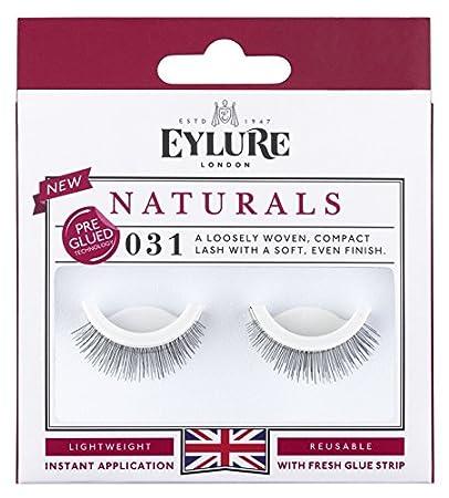 c8bcad18d70 Amazon.com : (Pack of 5 Pairs) Eylure Pre-Glued Naturals #031 False  Eyelashes : Beauty