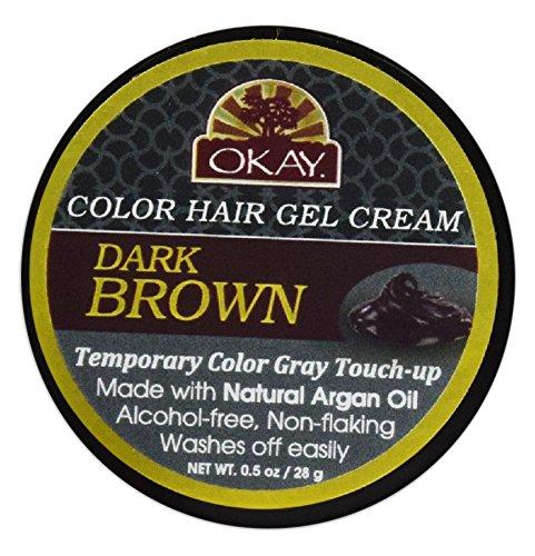 OKAY Color Hair Gel Cream, Dark Brown, 0.5 Ounce Xtreme Beauty International