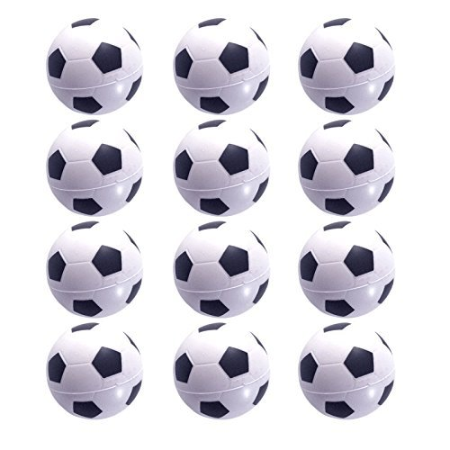 Mini Sports Balls for Kids Party Favor Toy, Soccer Ball, Basketball, Football, Baseball Squeeze Foam for Stress, Anxiety Relief, Relaxation. ((Soccer balls)) by Wall2Wall