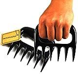 BBQ Meat Claws - AMPHOW Pulled Pork Shredder Claws, Barbecue Handler Shredding Carving Food Forks,Black, (Pack of 2)