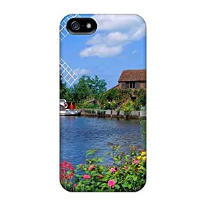 Ultra Slim Fit Hard CalvinDoucet Cases Covers Specially Made For Iphone 5/5s- Windmill