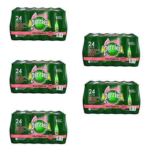 Perrier Sparkling Natural Mineral Water, Pink Grapefruit, 16.9 Ounce (Pack of 120) by Perrier
