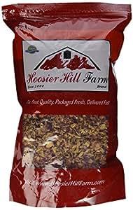 Dried Rosebuds and Petals, Red, Food Grade , Hoosier Hill Farm 8 oz. bag