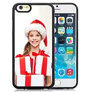 Beautiful Custom Designed Cover Case For iPhone 6 4.7 Inch TPU With Little Girl with Christmas Gifts Phone Case