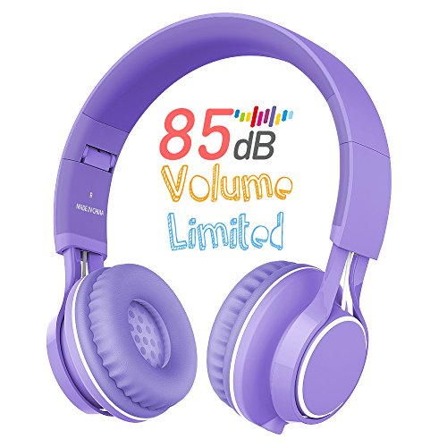 Kids Headphones, HD30 Volume Limiting Children Headset with Microphone for Girls Boys and Tablets Computer Laptops IOS Android Smartphone (Purple) by AILIHEN