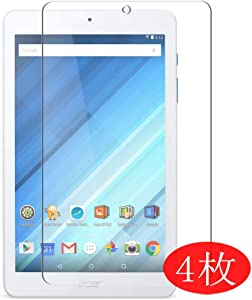 "【4 Pack】 Synvy Screen Protector for B1-850 Acer Iconia One 8 8"" TPU Flexible HD Clear Case-Friendly Film Protective Protectors [Not Tempered Glass] New Version"