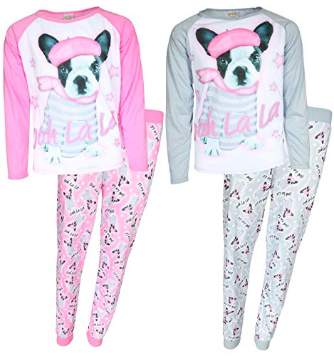 Sweet & Sassy Girls 4-Piece Sublimation Pajama Set (Long Sleeve Tops & Jogger Pants) (5-6, Dog)' ()