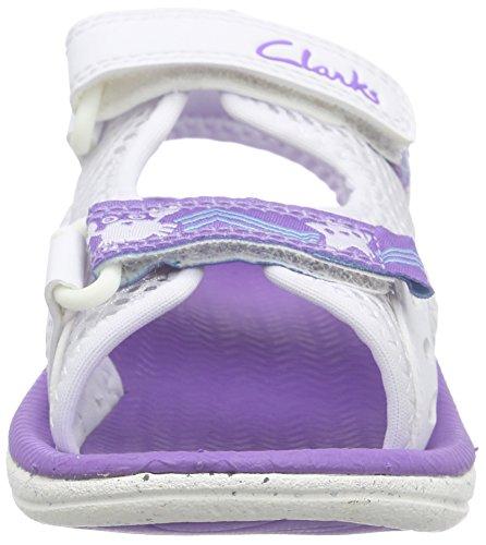 Clarks Kids Star Games Fst - Zapatillas de running Niños Blanco (White)