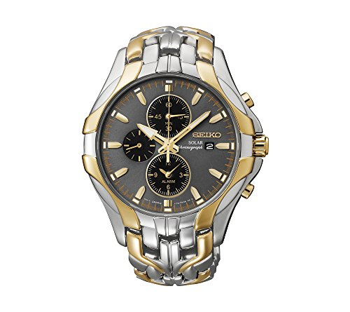 Seiko-Mens-Excelsior-Two-Tone-Solar-Chronograph-Watch