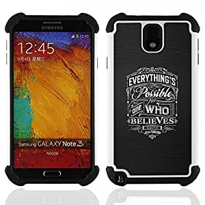 - believe possible god love Christian grey - - Doble capa caja de la armadura Defender FOR Samsung Galaxy Note3 N9000 N9008V N9009 RetroCandy