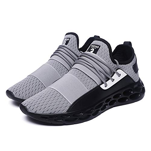 Zapatillas Negro Planos Con Plus Mezclados Transpirable Hombre q0nEgFwO