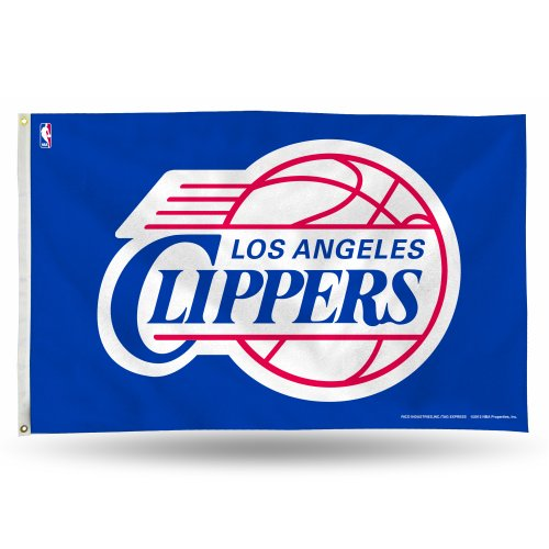 [NBA Los Angeles Clippers Banner Flag 3-Foot by 5-Foot] (Rico Los Angeles Clippers)