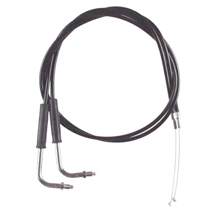 Amazon.com: Black Vinyl Coated Throttle Cable Set for 1990-1995 Harley-Davidson Sportster XLH883 & XLH883H models - HC-0345-0152-883: Automotive