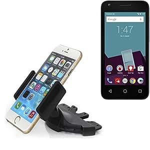 Ranura de CD Smartphone Soporte para Vodafone Smart speed 6   soporte de coche de uso general para los dispositivos de navegación / los teléfonos inteligentes para el montaje en la ranura de CD de la radio del coche. El soporte 360 ??es libremente ajustable. El dispositivo de agarre es adecuado para todos los teléfonos móviles de hasta 90 mm de ancho. Soporte para coche ranura de CD, ranura de CD del coche del soporte Coches, hecho para el smartphone, teléfono móvil, la navegación