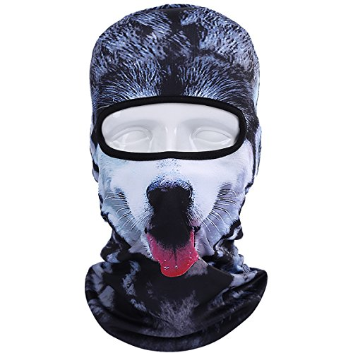 JIUSY Animal Balaclava Face Mask Breathable Speed Dry Outdoor Sports Riding Ski Head Cover Motorcycle Cycling UV Protection Helmet BNB06