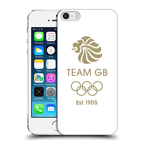 Official Team GB British Olympic Association EST Gold Logo Hard Back Case for Apple iPhone 5 / 5s / SE