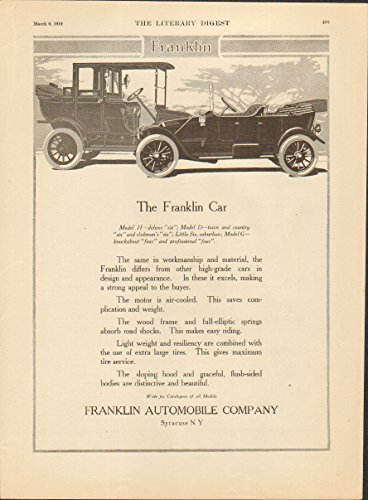 1912 Franklin Model H Syracuse NY Auto Ad Universal Household Helps from Franklin