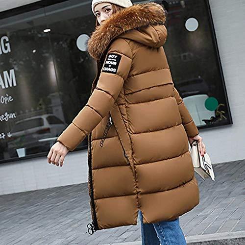 Longues paissir Manches Chemine Costume Caf Grande Elgante Chaud Stepp Parka Femme Taille Hiver Doudoune Longues Capuchon Doudoune Manteau Fashion 0qgxz8xwR