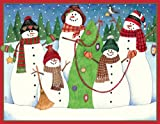 "Caspari Holiday Cards, ""Let it Snow"" Design, Box of 20 Christmas Cards with Envelopes"