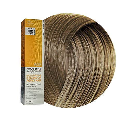 (Anti-Aging 7N Dark Blonde Demi Permanent Liqui Creme Hair Color by AGEbeautiful )