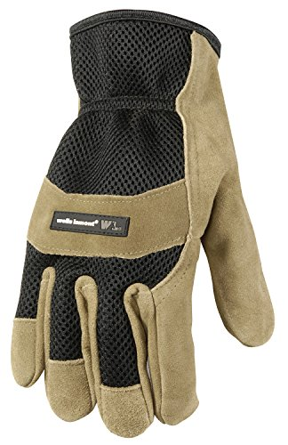 Wells Lamont Leather Work Gloves, Suede Cowhide Palm Ultra Comfort, Large (861L)