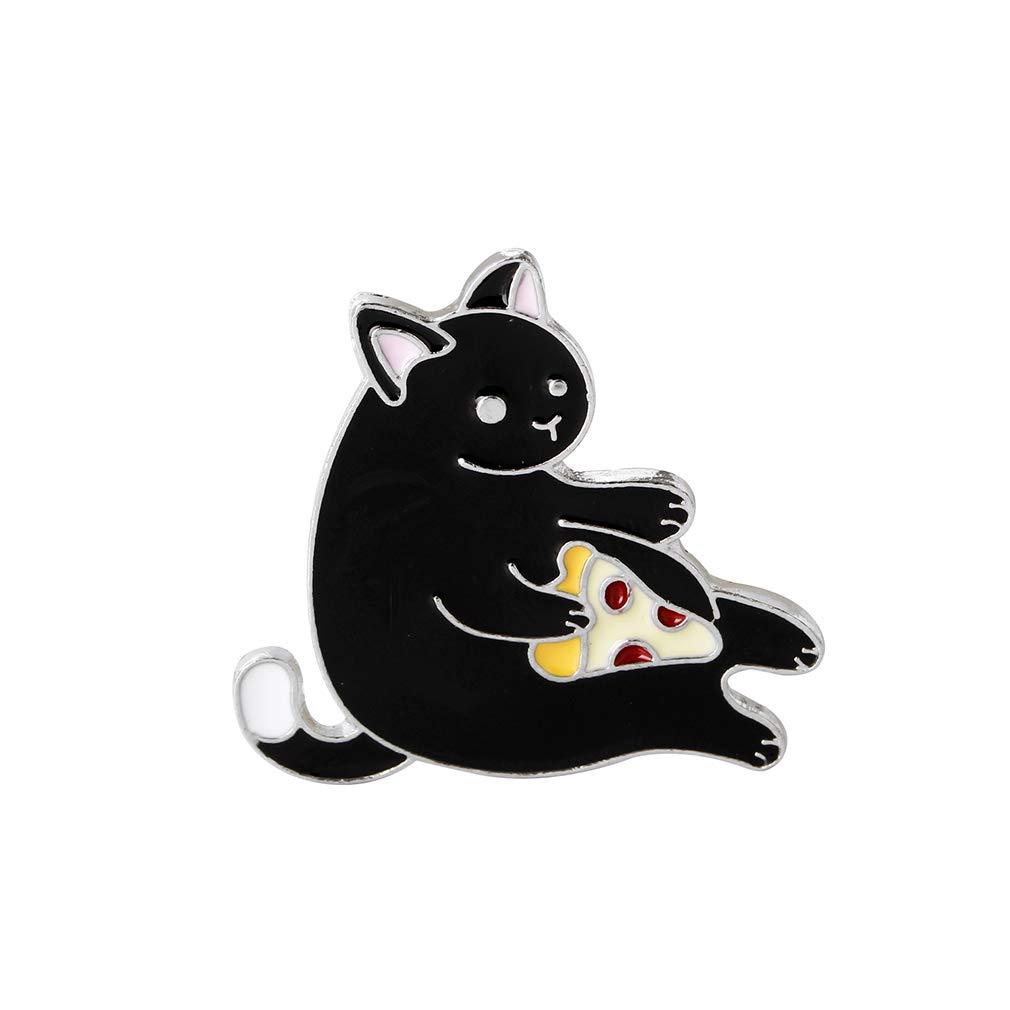 EH-LIFE Moon Cat Enamel Pin Lapel Brooch Badge Gift Jewelry for Women Girl 3#