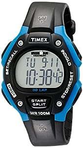 Timex T5K521 - Reloj digital unisex de cuarzo con correa de goma negra (cronómetro, alarma, cuenta vueltas, luz) - sumergible a 100 metros