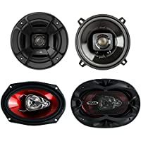 Polk Audio 5.25-Inch 300W Marine Speakers, Pair + 6x9-Inch 400W Speakers, Pair