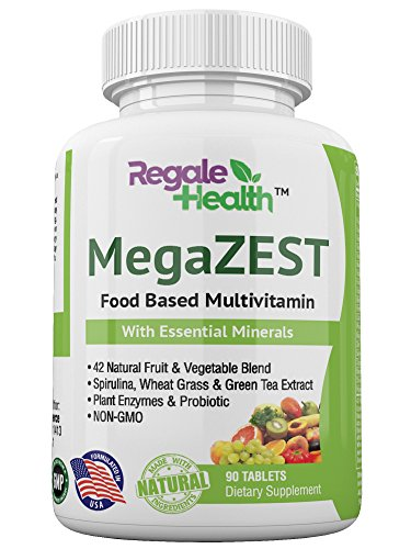 Daily Multivitamin for Men and Women, Whole Food Natural Raw Ingredients, Minerals & Vitamins, B-Complex, Green Superfood, Probiotic, Digestive Enzymes, for Energy and Heart Health – Non-GMO