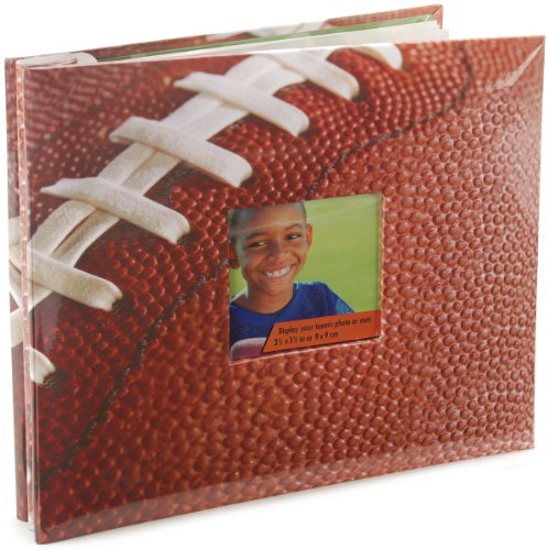 MCS MBI 9.6x8.5 Inch Football Theme Scrapbook Album with 8x8 Inch Pages with Photo Opening (865483)