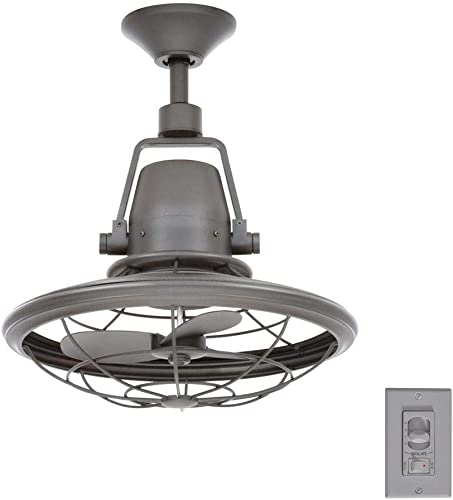 Home Decorators Collection Bentley II Indoor And Outdoor 18 Inch Natural Iron Oscillating Ceiling Fan