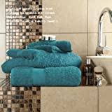 SELECT-ED Luxuries 6 Pieces Towels Set Egyptian Cotton 700gsm Extra Soft Top Quality Luxury Miami Towels (Teal, (2 x Bath Sheets, 2 x Bath Towels and 2 x Hand Tow)