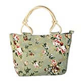 WongSinTong Womens Floral Purse Canvas Handbag Travel Shoulder Bag Satchel Tote