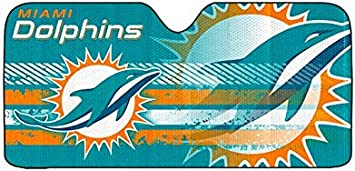 Infinity Stock NFL Auto Sun Shade Universal Size Fit 58 x 27 Windshield Car Truck SUV Sunshade Miami Dolphins Interior Accessories