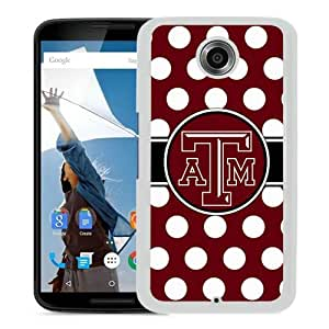 Fashionable And Unique Designed Case For Google Nexus 6 Phone Case With Southeastern Conference SEC Football Texas A&M Aggies 01 White