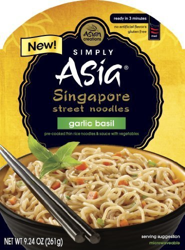 (Simply Asia Singapore Street Noodles, Garlic Basil, 9.24 Ounce (Pack of 6) by Simply Asia)