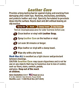 Leather Care Conditioner UV Protectant Aircraft Grade Leather Care better than automotive products. Excellent for Furniture cars seats & RV 's does not leave dirt attracting residue. from Aero Cosmetics