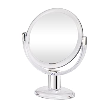 Gotofine Double Sided Magnifying Makeup Mirror  1X   10X Magnification with  360 Degree Rotation. Amazon com   Gotofine Double Sided Magnifying Makeup Mirror  1X