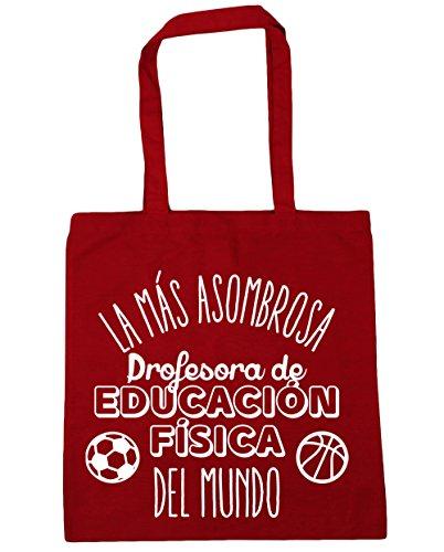 Fisica 10 Con Più Centimetri Sorprendente Shopping Educazione Bag Rossa Da Hippowarehouse Al La Il Spiaggia Manici Litri Mondo X Di Per Borsa 42 Ginnastica Insegnante Capacità 38 475xqYw