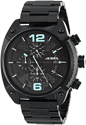 Diesel Men's DZ4316 Overflow Black Ip  Watch