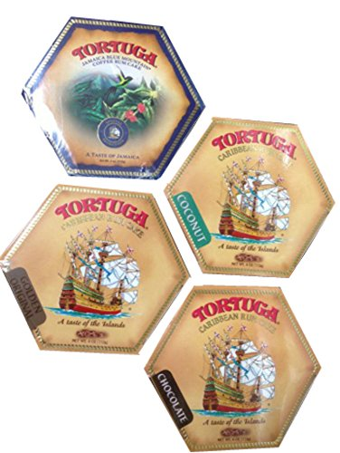 - Tortuga Caribbean Rum Cake Assortment - 4oz Rum Cakes each